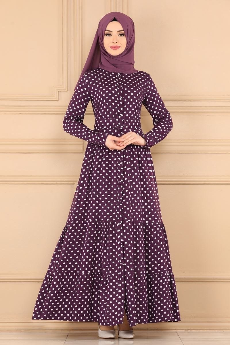 moda selvim Dress 1052BG354 Damson