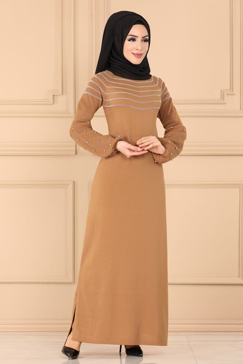 moda selvim Dress 2189KL398 Tan