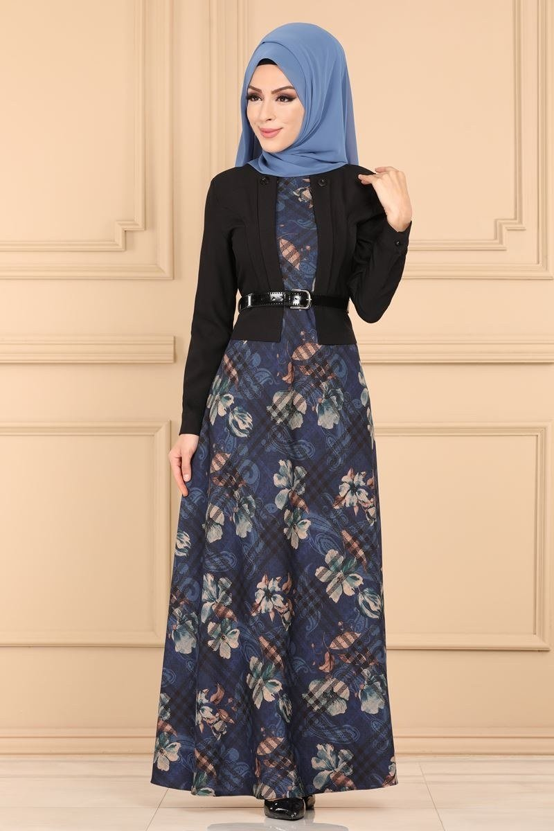 moda selvim Dress 2251MS212 Indigo