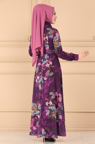 moda selvim Dress 6236YG95 Damson - Thumbnail