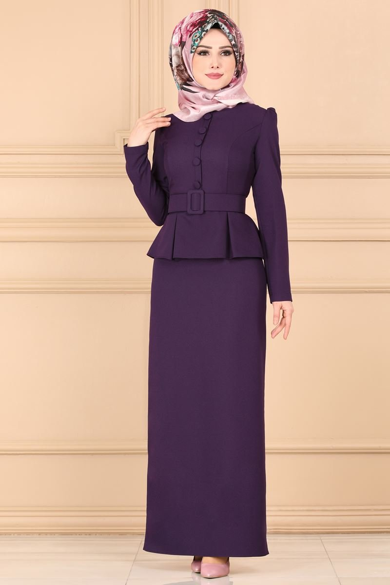 moda selvim Dress ASM2168 Purple