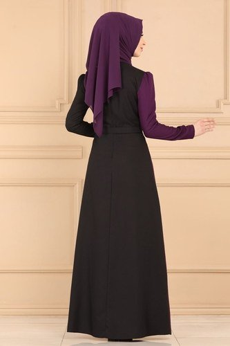 moda selvim Dress ASM2261 Damson - Thumbnail