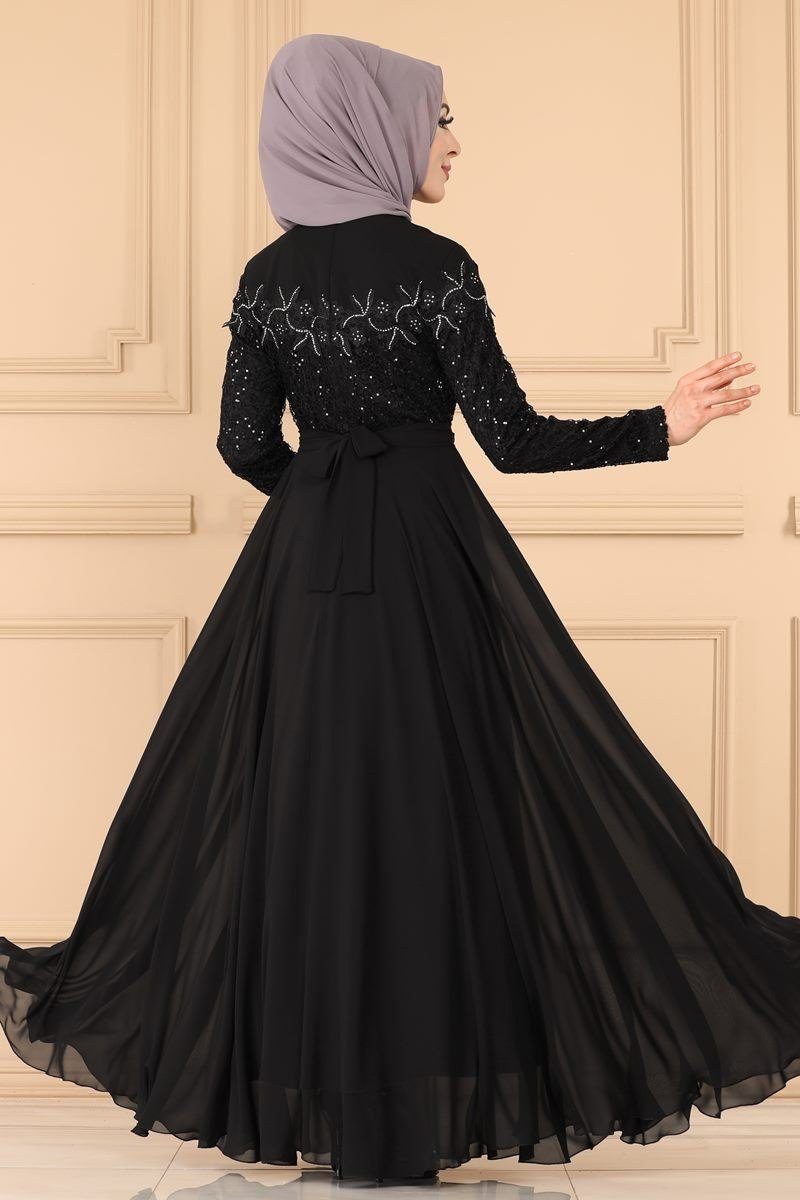 moda selvim Evening Wear 3097AB368 Black