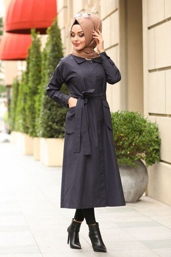moda selvim Overcoat 3011PD194 Navy Blue - Thumbnail