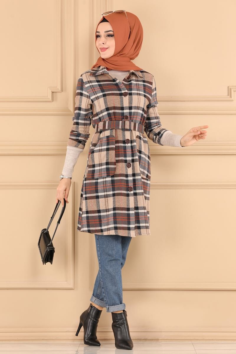moda selvim Overcoat 3023WW443 Pattern5