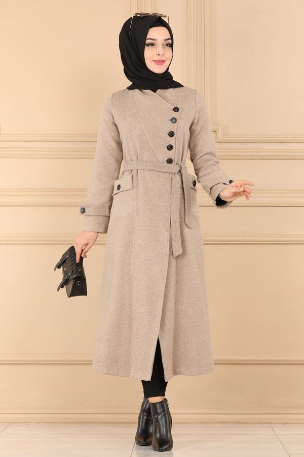 Modaselvim Special for Today Overcoat 5495BS198 Mink